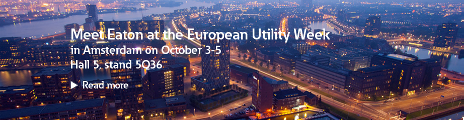 Meet Eaton at the European Utility Week banner